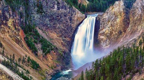 Mountain Waterfall Wallpaper Hd Widescreen
