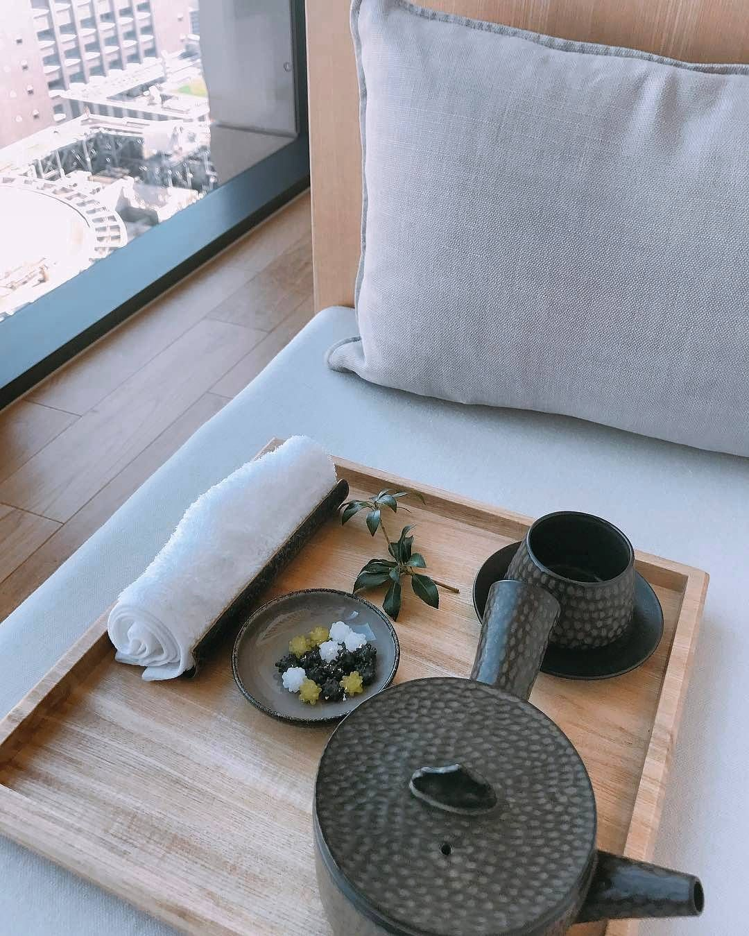 High above the commotion and clamor of the city, the spa at ...