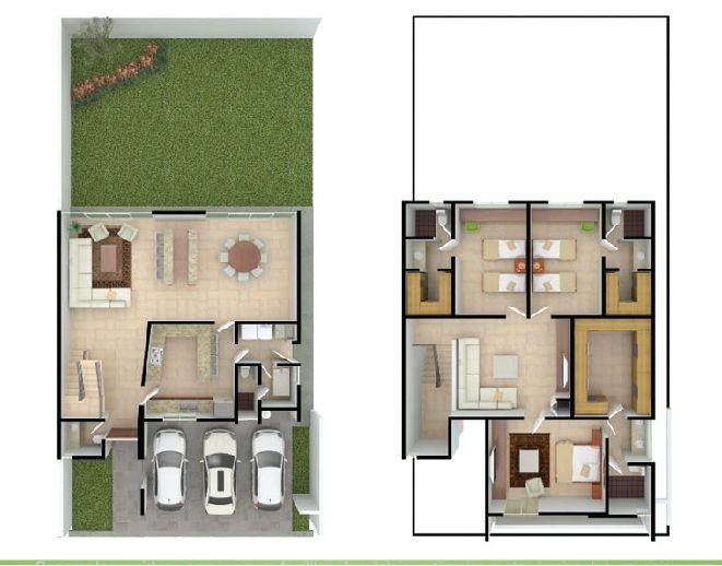 Pin by julio naranjo on planos planos de casas planos for Modelos de casas minimalistas de una planta