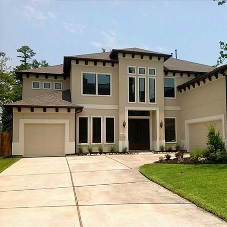 Stucco spanish contemporary home outside window details for Spanish bungalow exterior paint colors