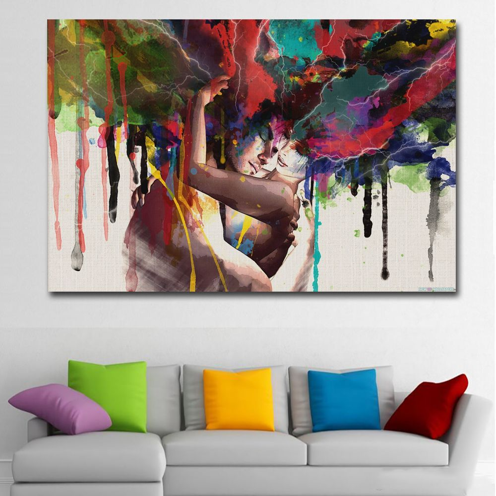Selflessly Art Posters Prints Wall Art Canvas Painting Abstract