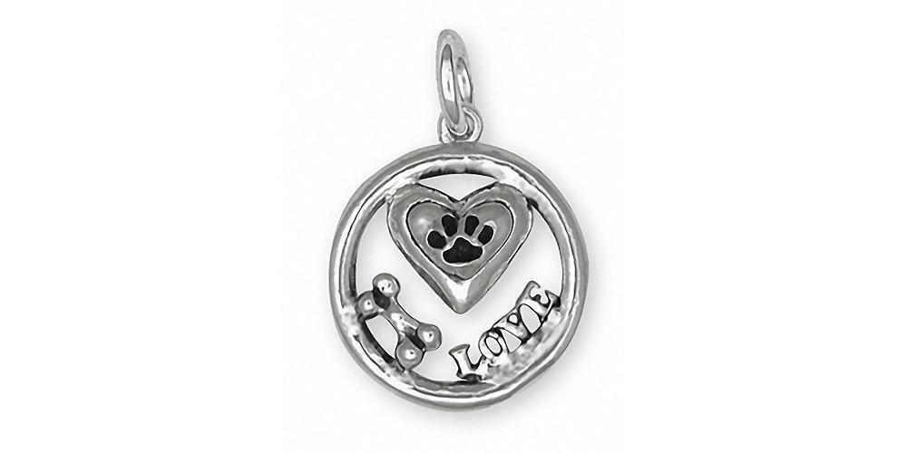 Dog Bone Charm Jewelry Sterling Silver Handmade Dog Charm FB3-C
