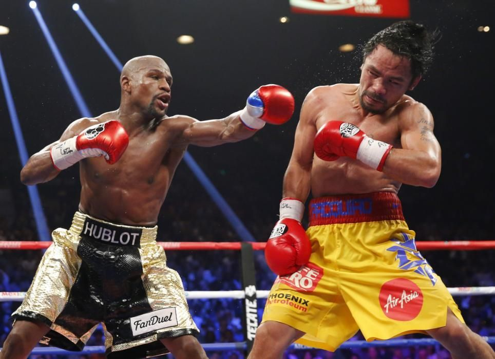May 2, 2015 — MAYWEATHER WINS FIGHT OF THE CENTURY Floyd