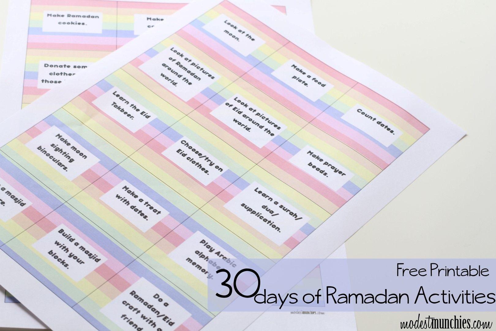 30 Activities For A Ramadan Advent Calendar