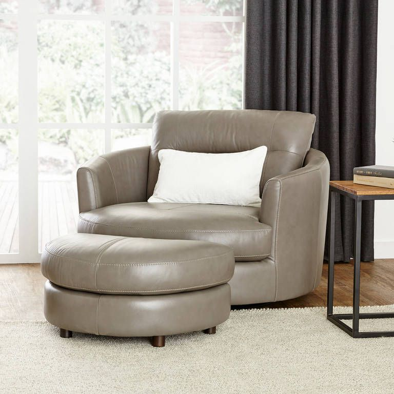 Andros Leather Chair W Ottoman Oxford Leather Chair Ottoman