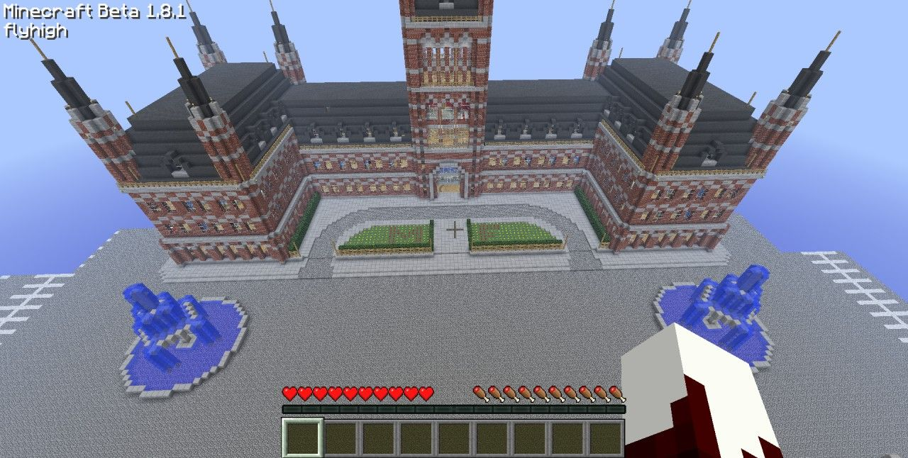 Epic Train Station with World Save File Minecraft Project