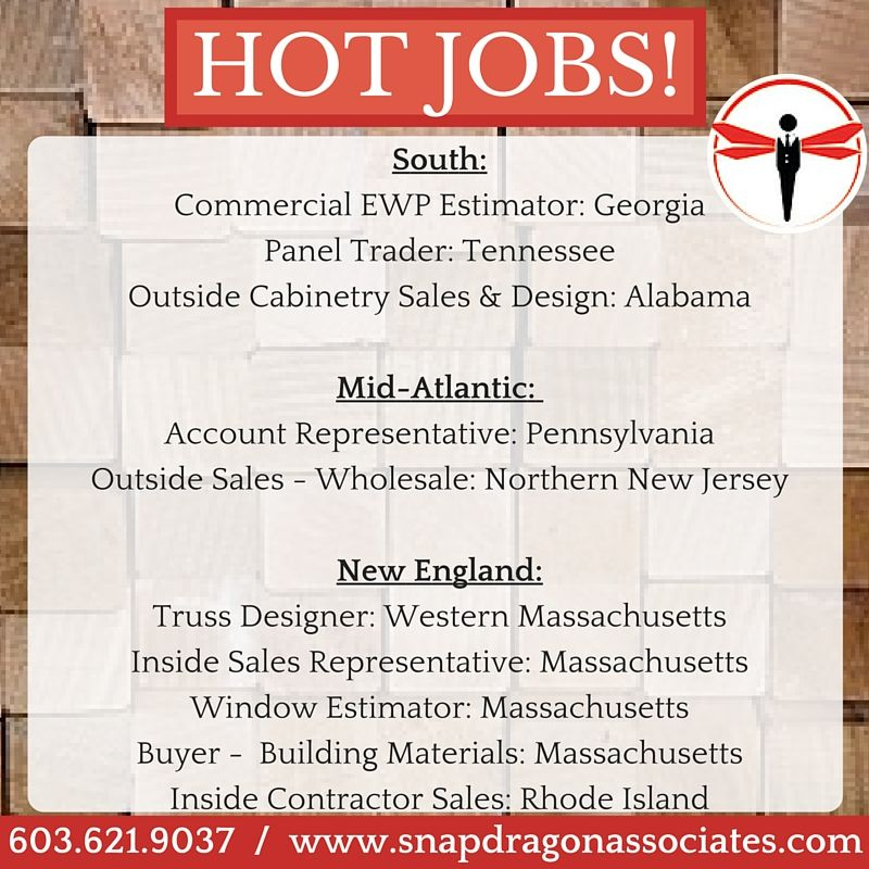 SnapDragon's Hot Jobs of the week! Apply at www