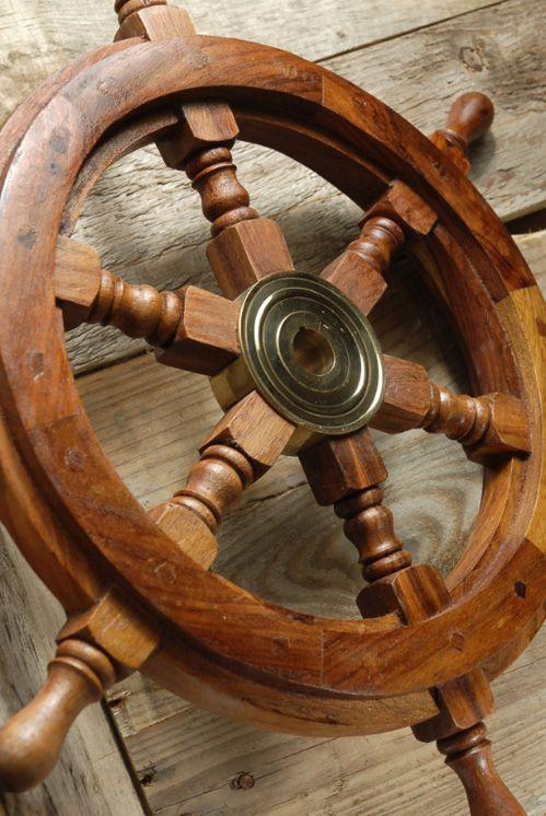 Wood Ship S Steering Wheel 18 5 23
