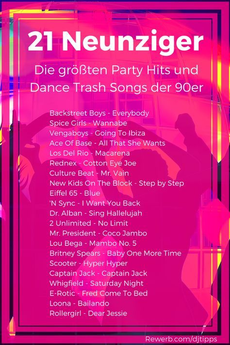21 party hits der 90er jahre liste der gr ten dance trash songs 90er 90s neunziger trash. Black Bedroom Furniture Sets. Home Design Ideas