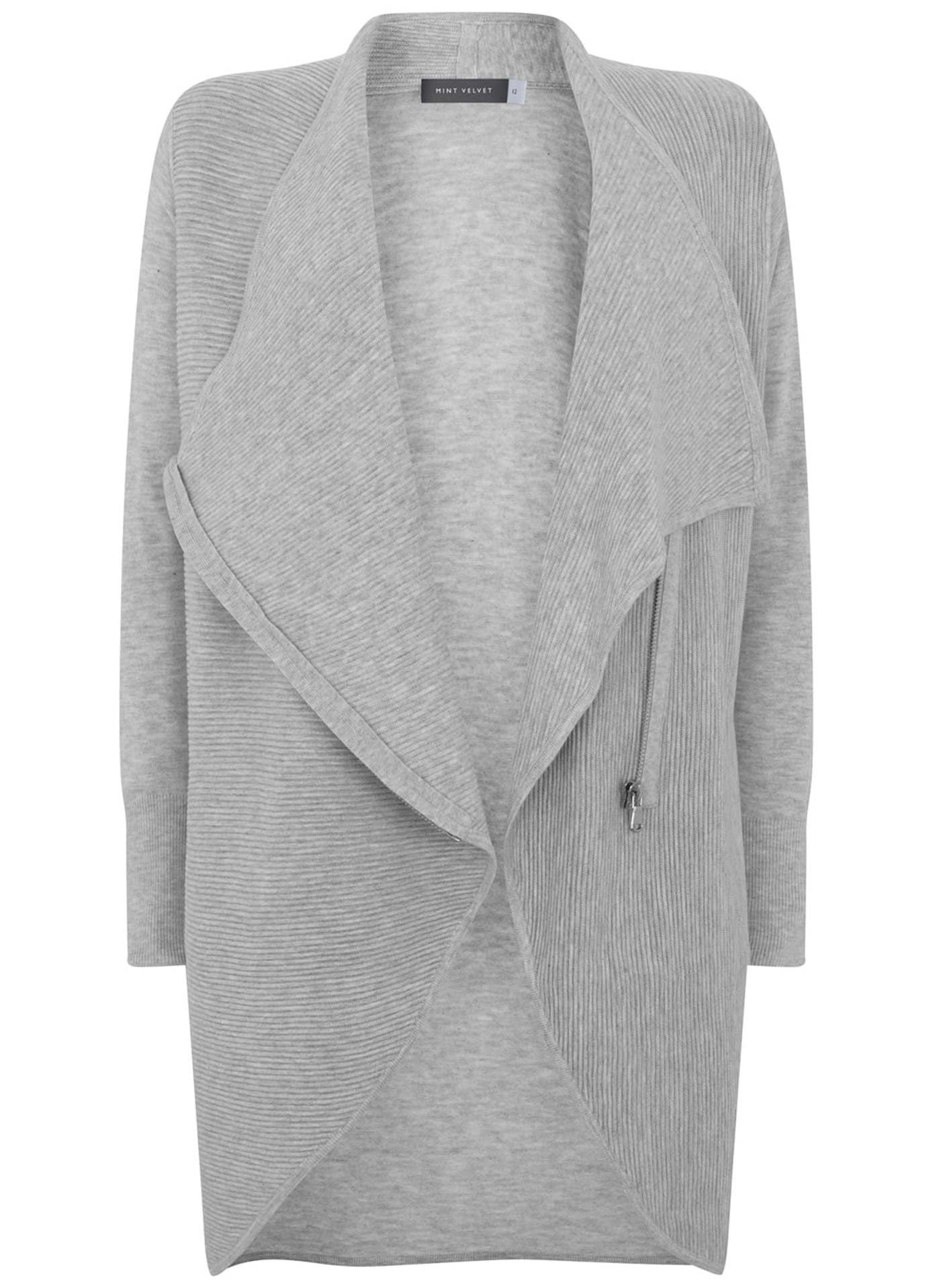 Silver Grey Stitch Cardigan | Gray ottoman, Longline cardigan and ...