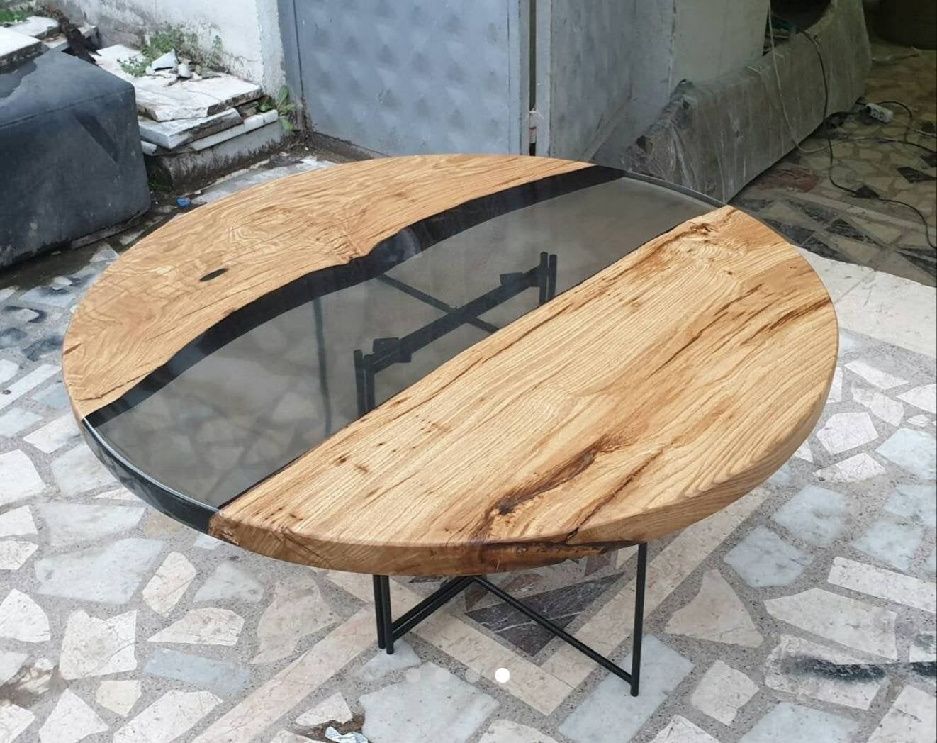 On Sale In Stock Epoxy Round Table Etsy Round Wood Coffee Table Resin Table Wood Rounds [ 1048 x 1322 Pixel ]