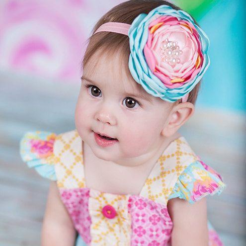 Lindo Bebé Chicas Infantil con Moño Mini Diadema Elástica Para Cabello Cinta Accesorios