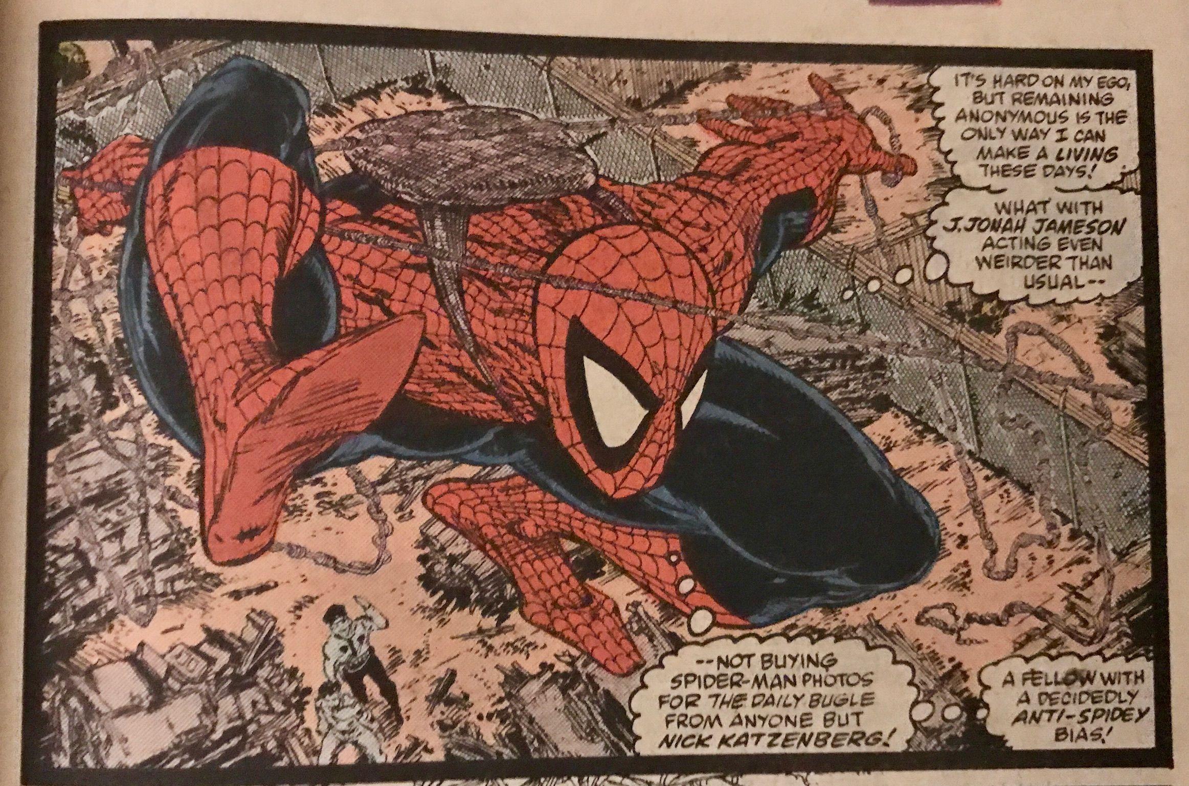 Art Todd Mcfarlane And Bob Sharen June 1989 Amazing Spider-man Spider