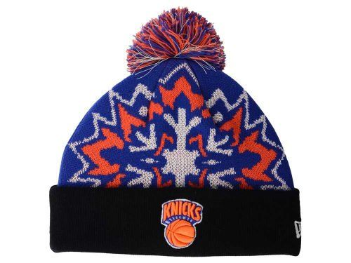 b58bc183ee488f New York Knicks Glowflake Beanie Hat with Pom NBA Glow in Dark Cuffed  Winter Knit Toque Cap *** Click on the image for additional details.