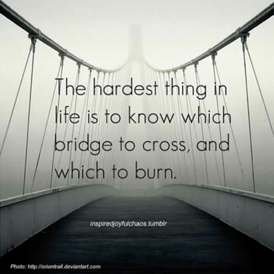 This is certainly true for me, especially as I get older and I'm more aware of which bridges I could burn.
