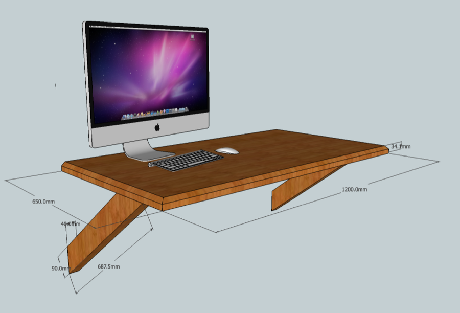 Wooden Floating Desk Plans Diy Blueprints How To Build A Wall Mounted Computer In Particular The Largest Collection Of Interior