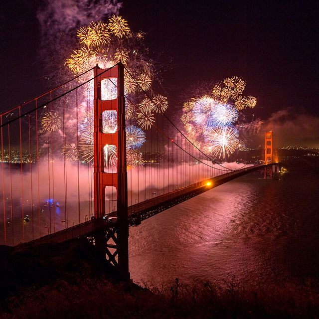 GG Bridge 75th Anniversary Fireworks Show. Stunning.
