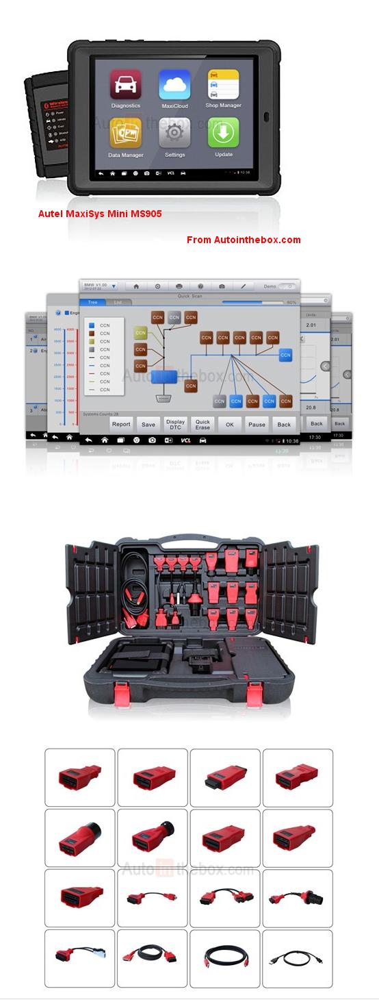 Autel MaxiSys Mini MS905 Automotive Diagnostic & Analysis System http://www.autointhebox.com/autel-maxisys-automotive-diagnostic-analysis-system_c8 #obd2