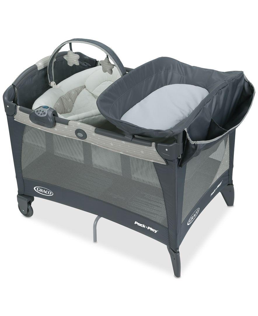 Playpen With Bassinet Babies R Us : playpen, bassinet, babies, Graco, Stars, Playard, Newborn, Napper, Macy's, Play,