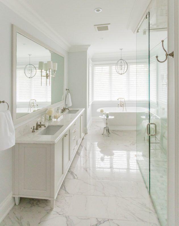 17 Astonishing Transitional Bathroom Interior Designs You Need To See White Bathroom Designs Classic Bathroom Design Classic Bathroom