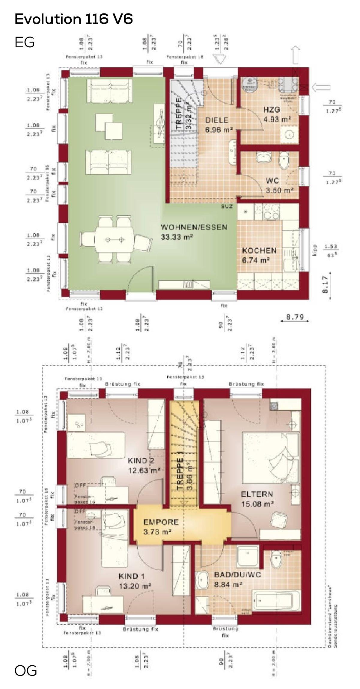 einfamilienhaus grundriss modern 4 zimmer erdgeschoss offen obergeschoss mit satteldach. Black Bedroom Furniture Sets. Home Design Ideas
