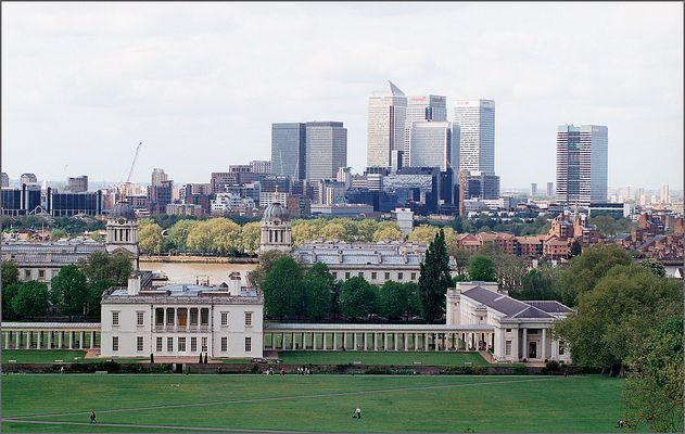 Greenwich - Old Royal Navy College und Docklands