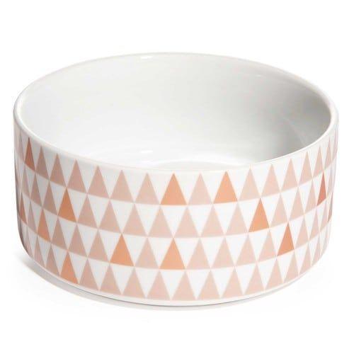 COPPER triangle motif china salad bowl D 19 cm