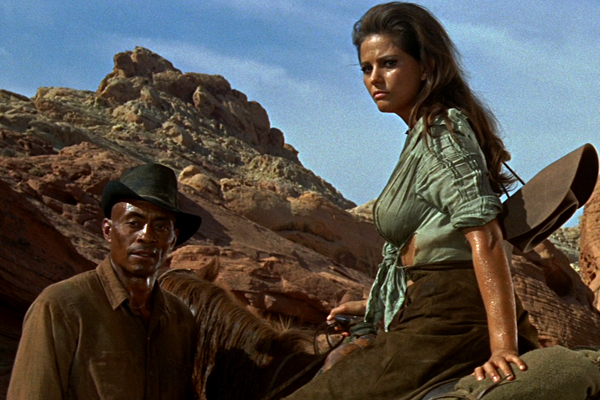 "Woody Strode, Claudia Cardinale in ""The Professionals"" (Richard ..."