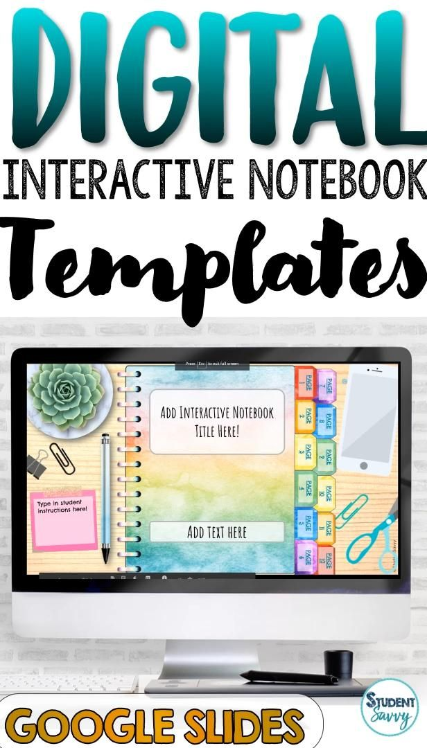 Photo of Digital Interactive Notebook Templates for Google Classroom