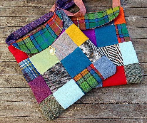Deux sacs en lainage : bis, ter, avec variantes !