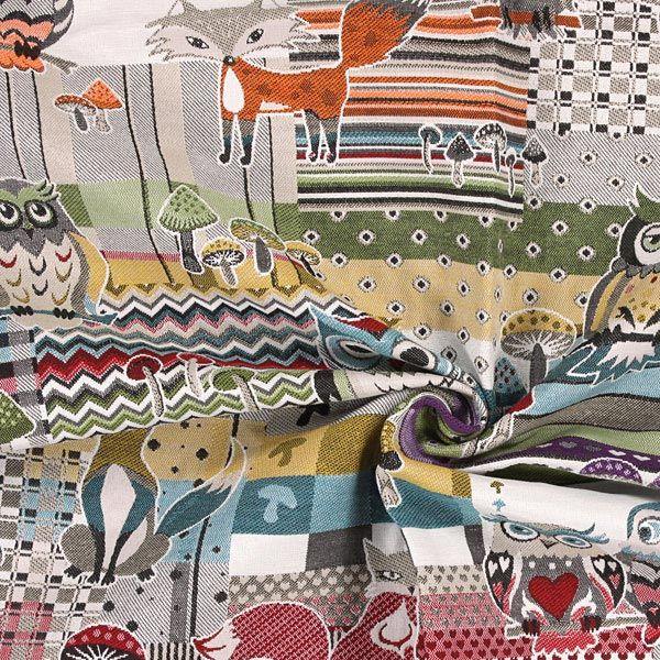 Jacquard Kettu & Pöllö - Polyesteri - Puuvilla - värisekoitus