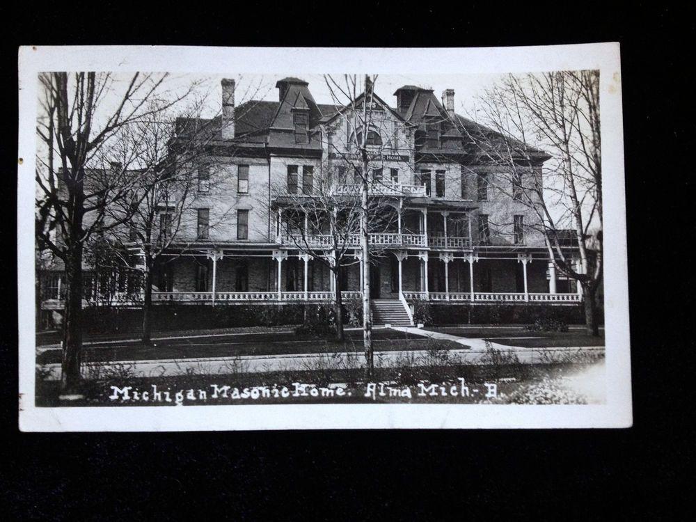 RPPC Real Photo Michigan Masonic Home Alma MI postcard ...
