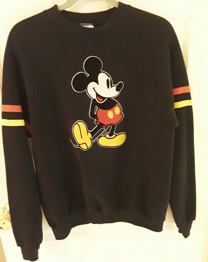 a8fafcaf0459 vintage 80s MiCKEY MOUSE SWEATSHiRT - XL Disney Character Fashions USA  black