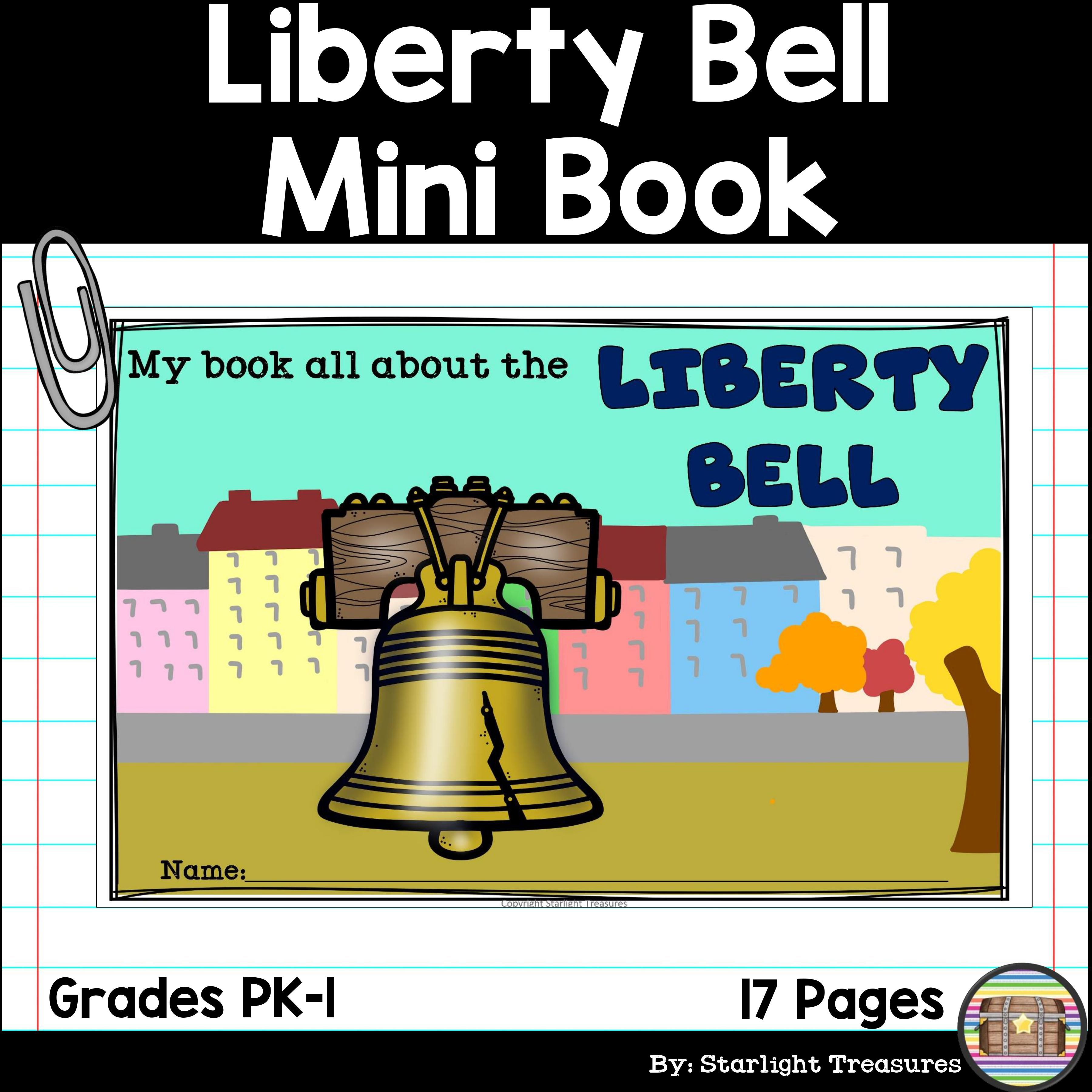 Liberty Bell Mini Book For Early Readers American Symbols