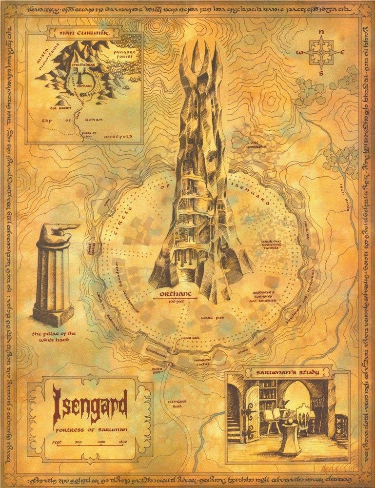 Map of Isengard | by Daniel Reeve | Tolkien | Lord of the rings