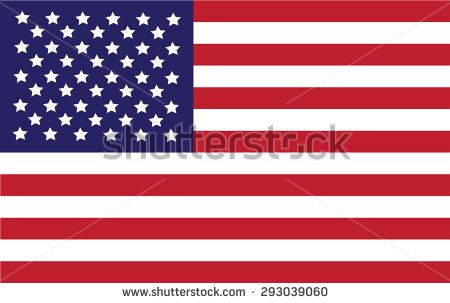 Flag of United States - stock vector