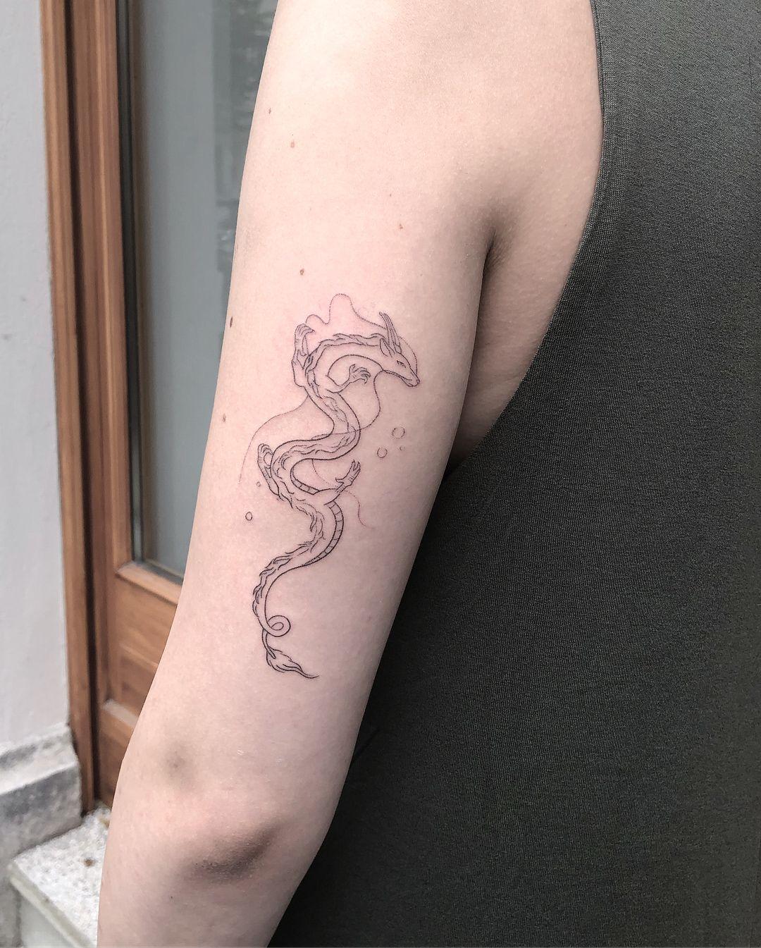Haku For Clara Thank You So Much Spiritedaway Hakutattoo Tattoos Dragon Tattoo For Women Spirited Away Tattoo