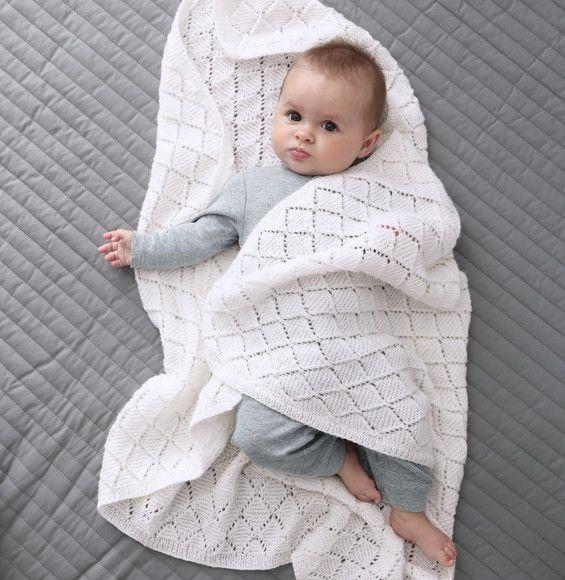 couverture bébé blanche Modèle couverture blanche Super Baby   Modèles Layette   Phildar  couverture bébé blanche