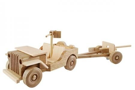 Mil Spec Jeep And 37mm Gun Downloadable Plan Wood Magazine