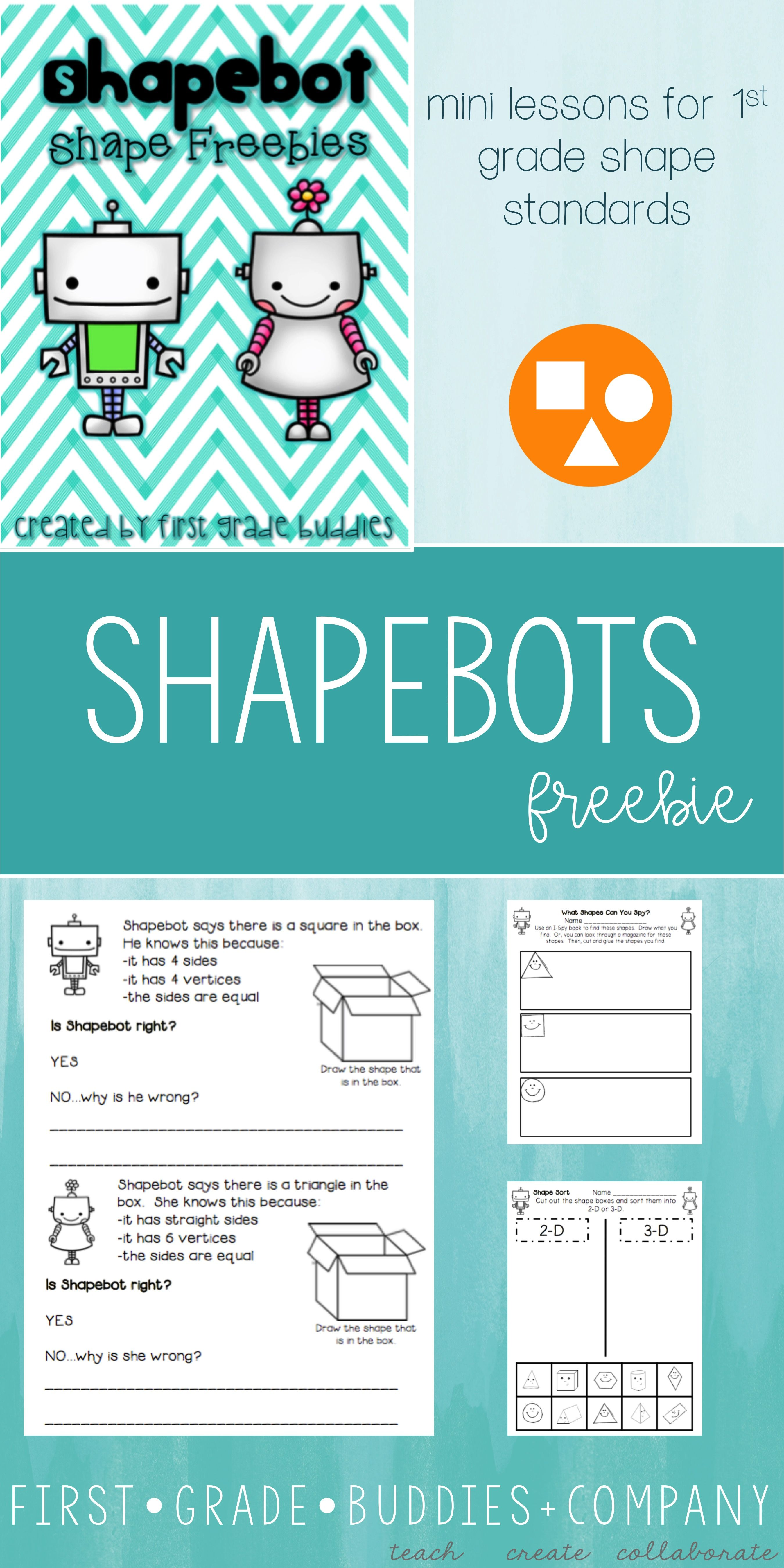 Use this FREE 2D and 3D shape resource with your Kindergarten, 1st ...