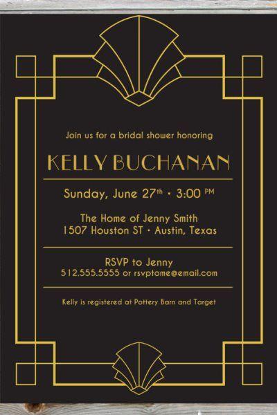 art deco wedding invitations - Google Search | Invitations art ...