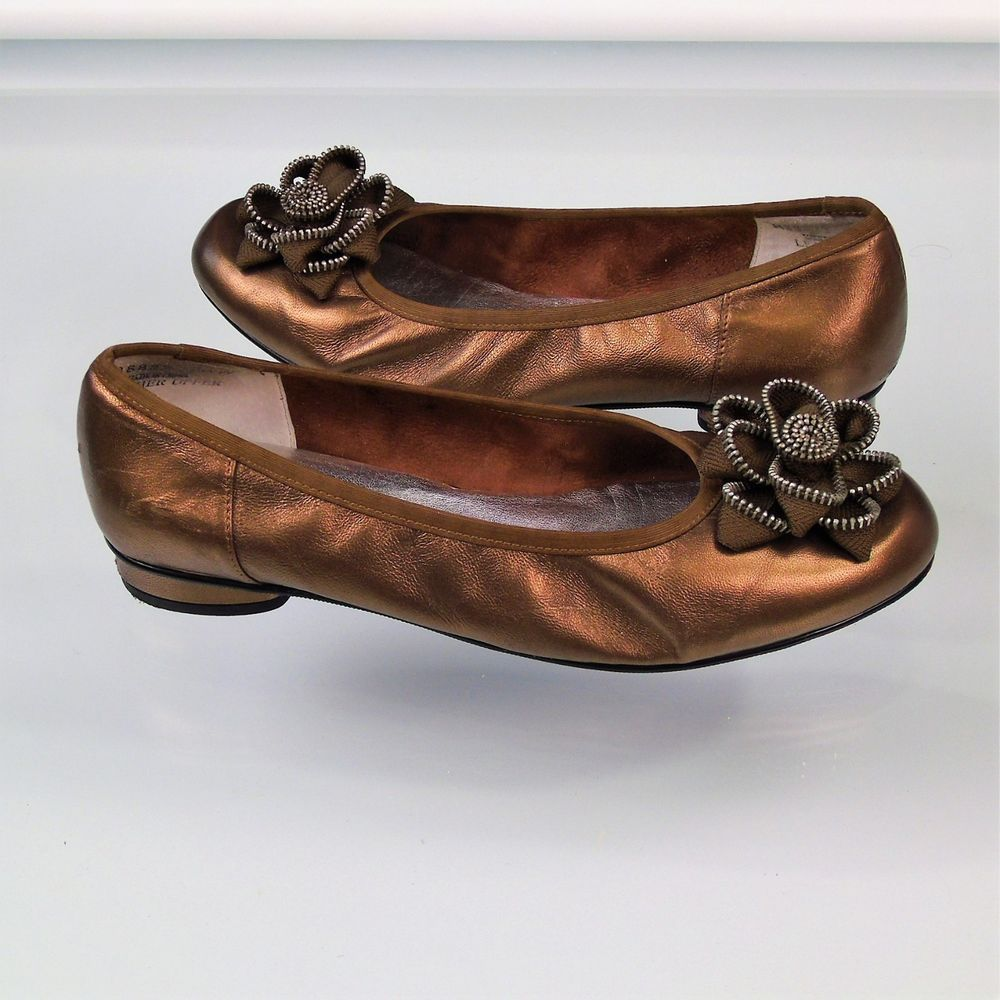 Details about Rafferty Metallic Gold Leather Ballet 9 Flats Size 9 Ballet 44c143