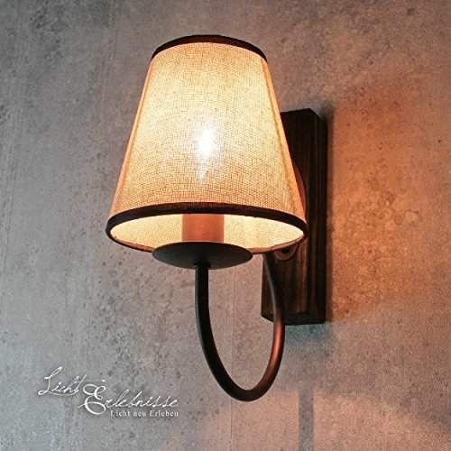 Raffinée Lampe mural en blanc shabby beige 1 x E14 jusqu\u0027à 60 W 230
