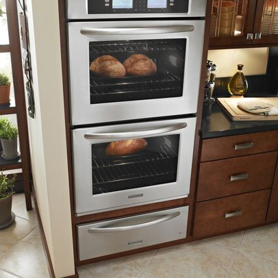 Professional double oven built in with warming drawer 59 for Wall oven microwave combo cabinet