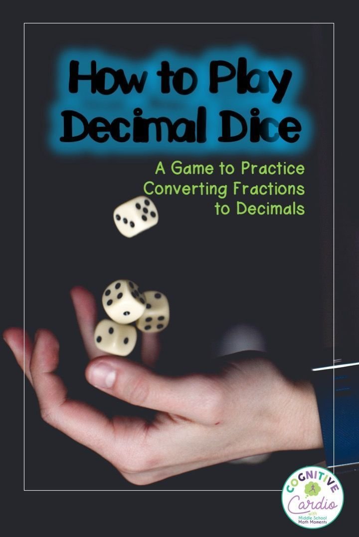 Decimal dice is a great math game to help your middle