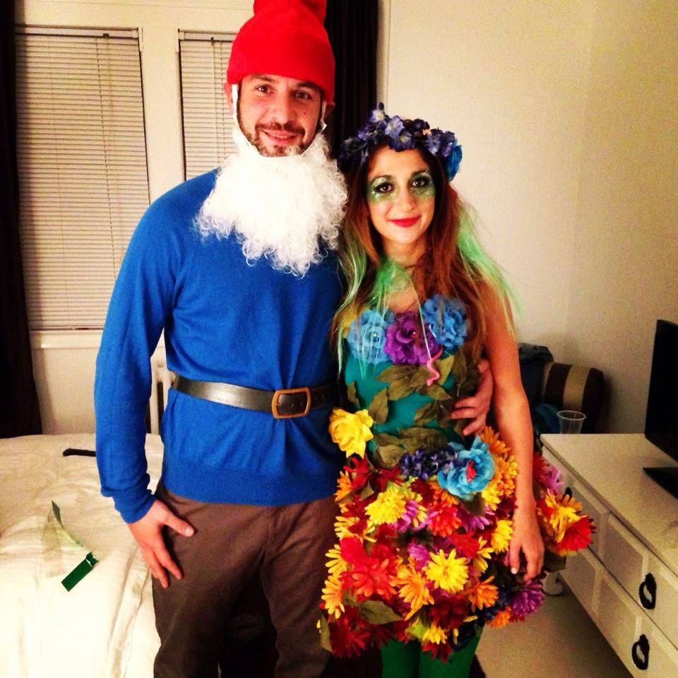 DIY Couples Costume, a garden and a gnome. Diy costumes