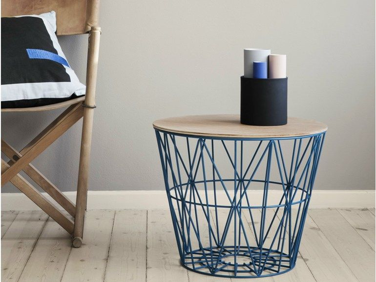 Wire Basket Coffee Table By Ferm Living Material Iron Wire With Powder Coating