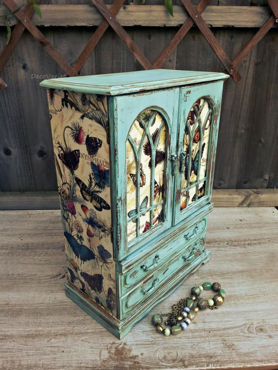 Large Jewellery Armoire Shabby Chic Jewellery By DecoVariat