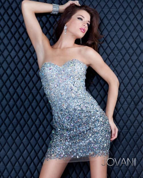 Ombre Beaded Dress, Style 171480