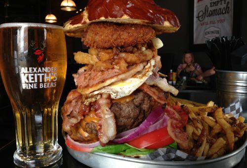 The Kitchen Sink Burger.... Only at Kenzington Burger Bar - in ...